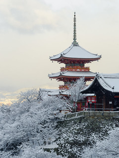 雪の三重塔 - 清水寺 / Three Storeyed Pagoda - Kiyomizu-dera Temple