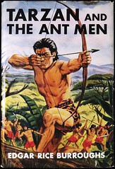 """""""Tarzan and the Ant Men"""" by Edgar Rice Burroughs. NY: Grosset & Dunlap, (1950). Reprint Edition. Dust Jacket Art by C. E. Monroe (lhboudreau) Tags: illustration book drawing coverart illustrations drawings books burroughs bookcover apeman 1950 tarzan edgarriceburroughs hardcover dustjacket reprint reprints erburroughs hardcovers antmen hardcoverbooks cheapbooks hardcoverbook grossetdunlap reprintedition dustjacketart cemonroe tarzanandtheantmen cedmondmonroe reprinteditions inexpensivebooks"""