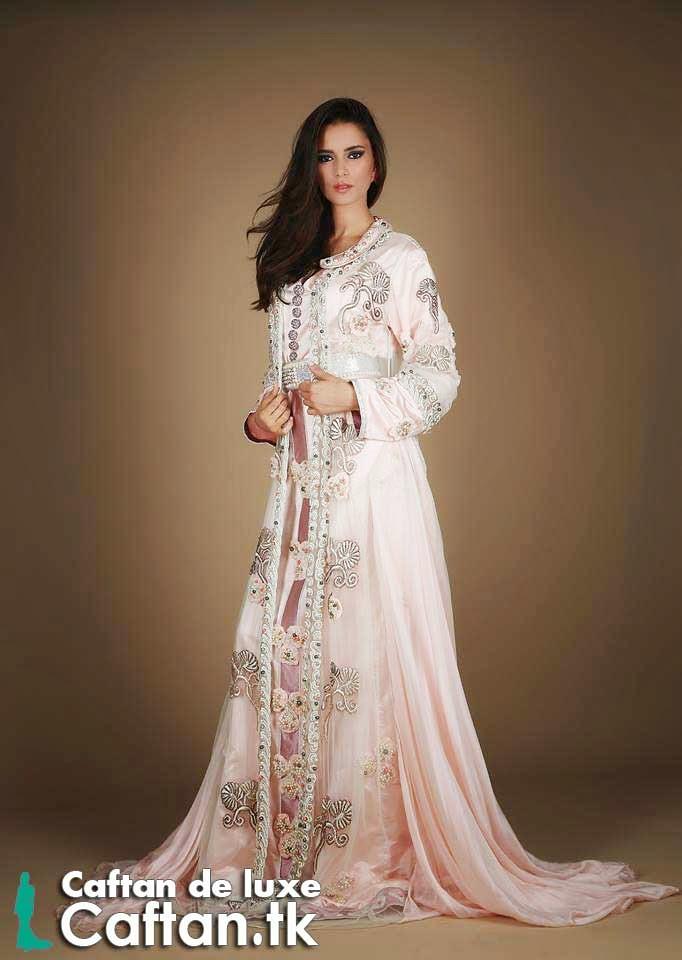 Caftan adorable rose blanc 2015 (caftans) Tags  de robe moderne soirée blanche  blanc 9aebd12c7d1