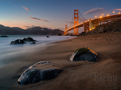 Beyond The Gate (mikeSF_) Tags: ocean sanfrancisco california longexposure bridge sunset seascape landscape twilight rocks waves pacific pentax marin battery fair goldengate headlands spencer presidio ggnra ggb hawkhill 3535 645d wwwmikeoriazenfoliocom mikeoria a3535 mikeoriaphotography wwwmikeoriacom