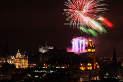 Fireworks over Edinburgh (baddoguy) Tags: above city uk horizontal architecture night outdoors photography scotland nopeople celebration copyspace multicolored thepast capitalcities colorimage edinburghscotland fireworkdisplay locallandmark buildingexterior
