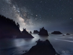Interstellar (rootswalker) Tags: longexposure nightphotography oregon stars secretbeach oregoncoast brookings seastack milkyway samuelhboardman nikond800 distagont2815 carlzeiss15mm