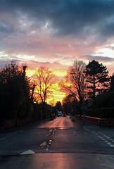 Parsonage Road Sunset (Bruce Poole) Tags: cloud del clouds tramonto nuvola sonnenuntergang alba dusk du nuage nuages cloudscape crepuscule nube anochecer wolk 2015  sol puesta coucher soleil sole sundown nuees   brucepoole cumulussunset  spuntar