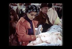 ss28-11 (ndpa / s. lundeen, archivist) Tags: city people color film boston store candid massachusetts nick citylife slide departmentstore slideshow mass 1970s shoppers dewolf filenes filenesbasement early1970s nickdewolf photographbynickdewolf slideshow28