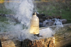 bottle exploding (WRCK) Tags: boy forest fun fire bottle time explosion bad explosive badboy innature