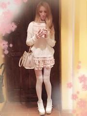 me  (Bunraku Doll) Tags: pink me girl longhair blonde asuka    lizlisa  bunrakudoll