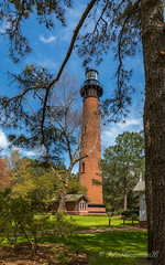 Currituck Beach Light (John H Bowman) Tags: lighthouses northcarolina april outerbanks corolla 2016 nrhp currituckcounty blueskywhiteclouds northcarolinalighthouses currituckbeachlight atlanticlighthouses april2016 obxworkshop canon16354l