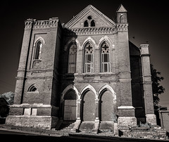 Old Catholic Church (Rodney Harvey) Tags: abandoned church architecture catholic pigeons grand missouri infrared hannibal