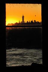 Faro de Colonia del Sacramento (AgustnCarrillo) Tags: claro light sunset argentina rio river de uruguay atardecer la buenos aires capital plate plata colonia federal agustin carrillo oscuro