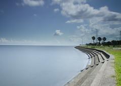 The Seawall, Lake Ponchartrain - slow shutter (20140816_0001) (ronnie.savoie) Tags: lakeponchartrain neworleans seawall lakeshoredrive longexposure
