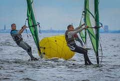 Windsurfers competing (frankmh) Tags: skne sweden outdoor windsurfing windsurfer resund