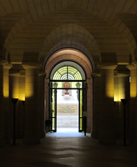 Crypt arches - the Pantheon, Paris (Monceau) Tags: light urn arches crypt panthon