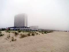 Warnemnde (Carlo Mirante) Tags: street city travel cruise beach fog canon hotel photo spring warnemnde foto nebbia viaggi spiaggia rostock germania s200 baltico