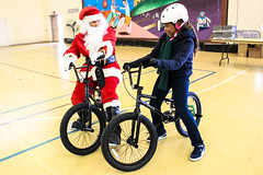 IMG_5576edit (Philadelphia Parks and Recreation) Tags: santa family winter holiday kids event giveaway adults westphilly pinkbike district8 pumptrack carouselhouse sharetheride