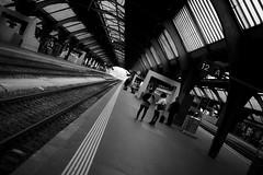 12A (maekke) Tags: bw woman man canon 50mm noiretblanc f14 streetphotography sbb trainstation rails zrich dutchangle zrichhb zvv 2016 zrichhauptbahnhof eos6d
