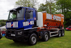 FTM Plant of Cupar Renault C PO15AYY at the Fife Show in Cupar, 21st May 2016 (andyflyer) Tags: truck transport lorry haulage cupar hgv roadtransport fifeshow ftmplant renaultc ironmix po15ayy