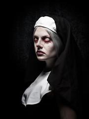 Evil Look (Tortured Mind) Tags: portrait woman dark eyes zoom creative nun horror nikkor dslr 43 ratio d800 70200mmf28