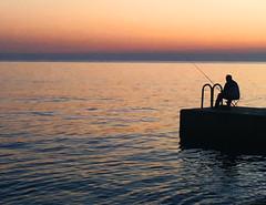 #101 Food for Free (padswift) Tags: sea fishing dusk slovenia piran seafishing 1162016 116in2016