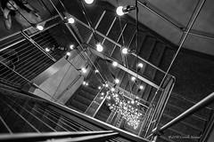 Staring down a Light-Fall (CVerwaal) Tags: nyc blackandwhite usa ny newyork art stairs untitled whitneymuseum felixgonzaleztorres sonyrx100iii