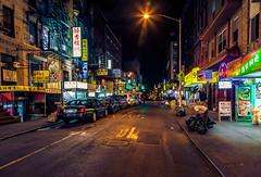 Chinatown at night (Arutemu) Tags: street city nyc newyorkcity urban usa ny newyork night america canon asian us asia chinatown cityscape view nightscape nightshot unitedstates manhattan chinese scenic ciudad nighttime american citylights vista nightview  ville  nightstreet nightfall nuevayork    24105      eos5d