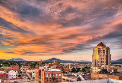 Solstice Eve Sunset Twilight Roanoke [Explore! 7-20-2016} (Terry Aldhizer) Tags: city eve sunset summer sky church june clouds buildings spring twilight solstice roanoke terry aldhizer wwwterryaldhizercom