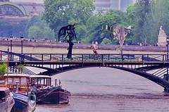 Paris Juin 2016 - 257 sculptures sur le Pont des Arts (paspog) Tags: sculpture paris france statue seine statues sculptures inondation crue pontdesarts inondations crues