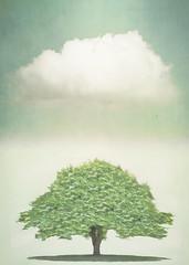 Synchronicitree (Hal Halli) Tags: cloud tree love nature digital flora wallart legacy homedecor cooperation synchronicity artdigital cloudandtree netartii