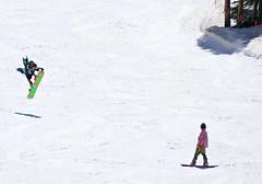 Ride Antic (Colorado Sands) Tags: people snow man male men sports june snowboarding us spring jump jumping colorado skiing guys downhill rockymountains recreation dudes slope summitcounty springtime arapahoebasin abasin boarders snowboarders springskiing sandraleidholdt rideantic