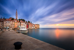 Rovinj @ sunset, Istria, Croatia (florian.diebold) Tags: santa sunset skyline architecture meer wasser long exposure outdoor croatia nd dmmerung baroque rovinj renaissance barock neoclassicism istria eufemia hafenviertel