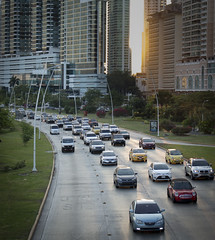 Rush Hour (yafit770) Tags: road sunset cars buildings afternoon traffic rushhour panama panamacity arquitecture challengeyouwinner cyunanimous