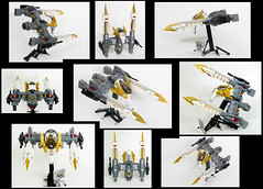 Gryphon E-150 -- Collage (Uspez) Tags: lego space stg starfighter teler