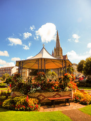 Ilfracombe, North Devon (photphobia) Tags: park uk sky holiday building green gardens architecture buildings vanishingpoint seaside outdoor perspective victorian bandstand runnymede ilfracombe northdevon oldwivestale victorianresort buildingsarebeautiful runnymedegardens