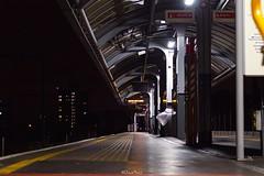 Shadwell DLR Station (LFaurePhotos) Tags: building london station architecture night perspective platform e1 deserted dlr eastlondon shadwell docklandslightrailway londonboroughoftowerhamlets