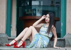 DP1U0277 (c0466art) Tags: light portrait girl beautiful smile face female canon pose nice eyes asia pretty action sweet outdoor gorgeous goddess taiwan joan figure lovely charming elegant wu  1dx c0466art