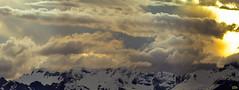 Montagnes du Valais, Suisse. (Zed The Dragon) Tags: zed dragon sony a7r 2016 montagne coucher soleil valais vercorin suisse nature neige snow montaign nuage nuages 500 500mm panorama zedthedragon juin chalais 500mmf4gssm ciel paysage landscape extrieur outside montagnes inalpe alpages