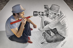 Pencil Vs Camera - 73 (dezinemag) Tags: portrait art photography sketch 3d drawing creative benheine pencilvscamera