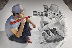 Pencil Vs Camera - 73 (dezinemag) Tags: portrait art photography sketch 3d drawing creative benheine pencilvscamera