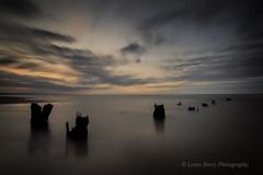 THE DARKENING (lynneberry57) Tags: longexposure sunset sea sky seascape beach water clouds canon landscape flickr mood jetty feelings hartlepool 70d northsands leefilters