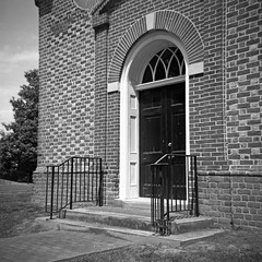 North Farnham Church III (dungan.robert) Tags: blackandwhite film church virginia ilford argus 620 richmondcounty seventyfive panf50 caffenolcmrs copyrightrobertedungan2016 northfarnhamparishchurch