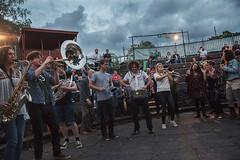 Hackney Colliery Band @ mac 4 (preynolds) Tags: sky clouds concert birmingham raw dof gig group livemusic band horns trumpet noflash trombone brass saxophone brassband mark2 outdoorgig hornsection macarts midlandartscentre tamron2470mm canon5dmarkii counteractmagazine