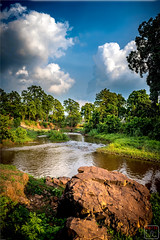 A fine day by River Sona (Indraneel1973) Tags: landscape landscapes river orissa odisha water waterscape canon india sunset slowshutter longexposure
