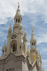 Saints Peter and Paul Church (3scapePhotos) Tags: sanfrancisco california city travel urban usa west building tower church vertical architecture paul coast san francisco downtown saints cities steeple peter coastal westcoast saintspeterandpaulchurch 3scapephotos
