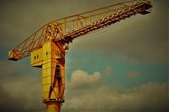 Grue Jaune (Andr Gourizan-bi) Tags: nantes grue argentique chantier