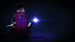 LEGO Percy Weasley (Geertos13) Tags: red portrait night photoshop dark hair photography arthur ginger lego character ministry bricks corridor harry potter fudge custom crouch vfx percival maxima prefect percy minifigure moc weasley lumos