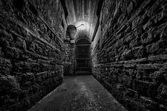 Underground III (Zesk MF) Tags: bw white black wall dark nikon exploring bricks under sigma tunnel down below tor 8mm eisen zesk