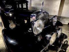 Cadillac 1930 V16 (Steve Taylor (Photography)) Tags: blue newzealand brown black art lamp car museum digital wow shiny nelson cadillac chrome nz southisland classiccars 1930 generalmotors v16 worldofwearableart