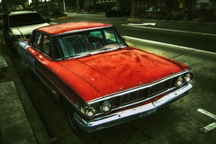 Red Rust (Zero_Three) Tags: street classic ford vintage cloudy wide overcast gloom