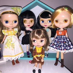 The ebl/bl girls  (Starbright_Sally) Tags: blythe goldie allgoldinone bl fruitpunch ebl bohemianbeats customgoldie