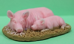 Sleeping Pigs $3.00 (Clelian Heights) Tags: sleeping animals pigs soaps unscented decorativesoaps cleliansoaps cleliancenter