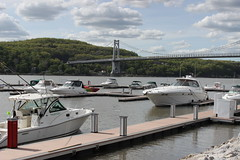 Marina (historygradguy (jobhunting)) Tags: bridge ny newyork water marina river boats waterfront upstate poughkeepsie hudsonriver suspensionbridge dutchesscounty hudsonvalley midhudsonbridge